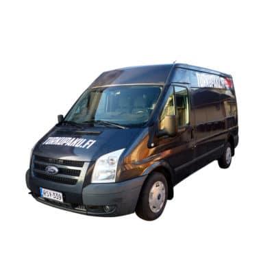 Pakettiauton Vuokraus Turku Ford Transit harmaa