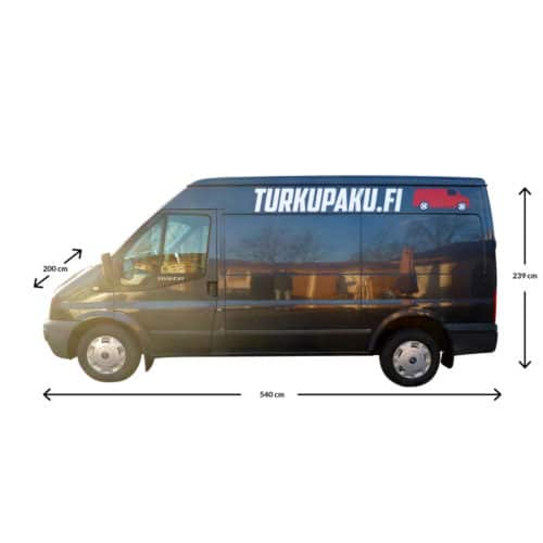 Pakettiauton Vuokraus Turku Ford Transit musta