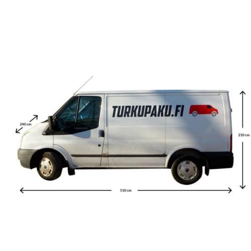 Pakettiauton Vuokraus Turku Ford Transit Pienempi Sivusta