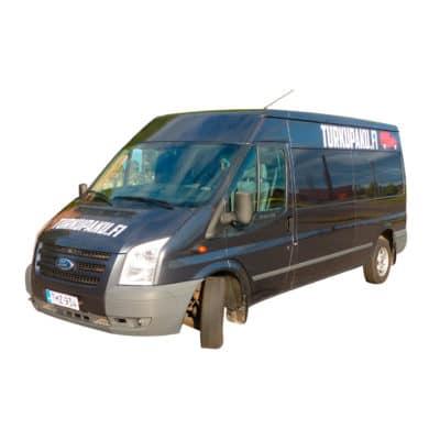 Pakettiauton Vuokraus Turku Ford Transit Isompi Musta