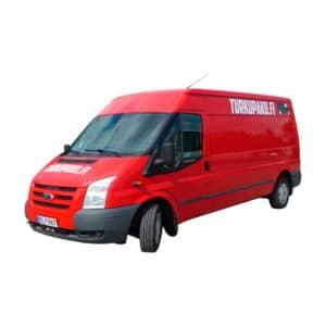 Pakettiauton Vuokraus Turku Ford Transit Isompi Punainen